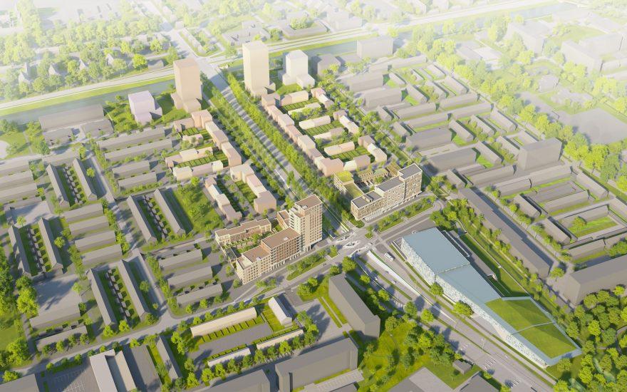 Impressie nieuwe stadswijk Hogekwartier Amersfoort