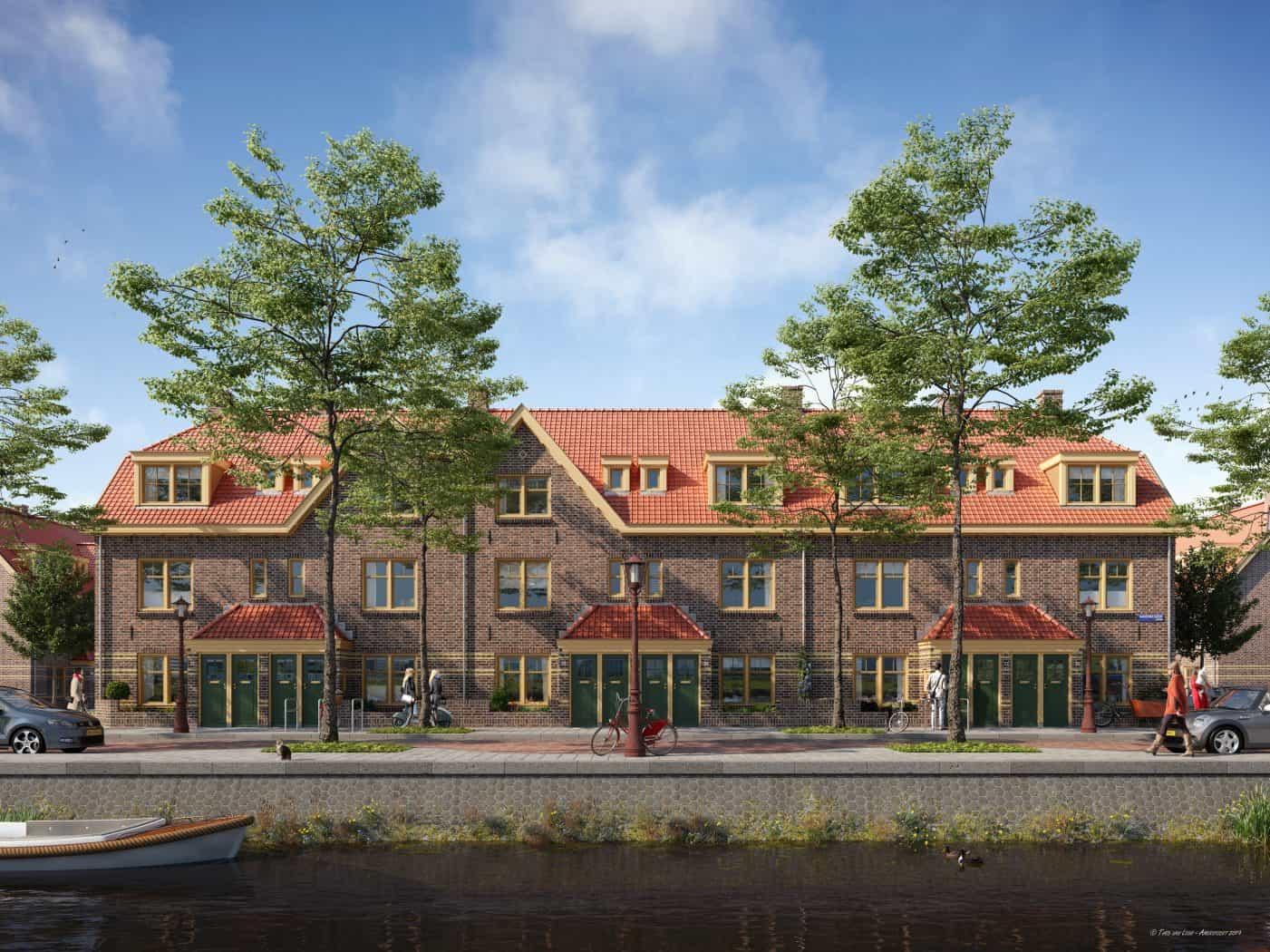 Woningverbetering in der Van der Pek buurt Amsterdam