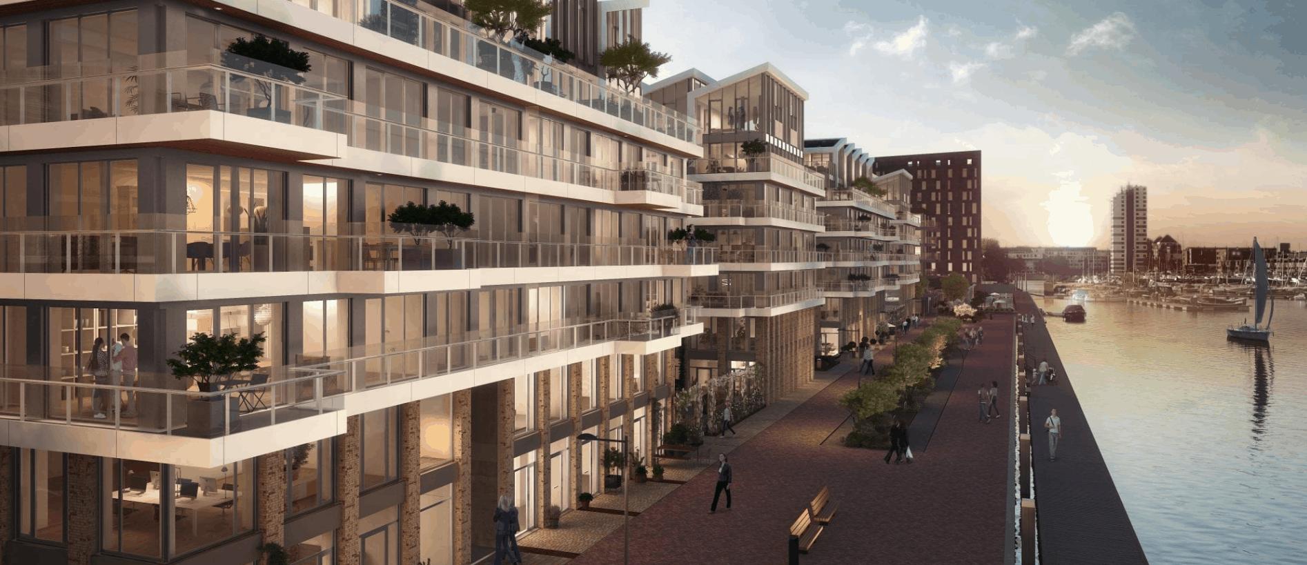 Impressie appartementen Cruquius Amsterdam