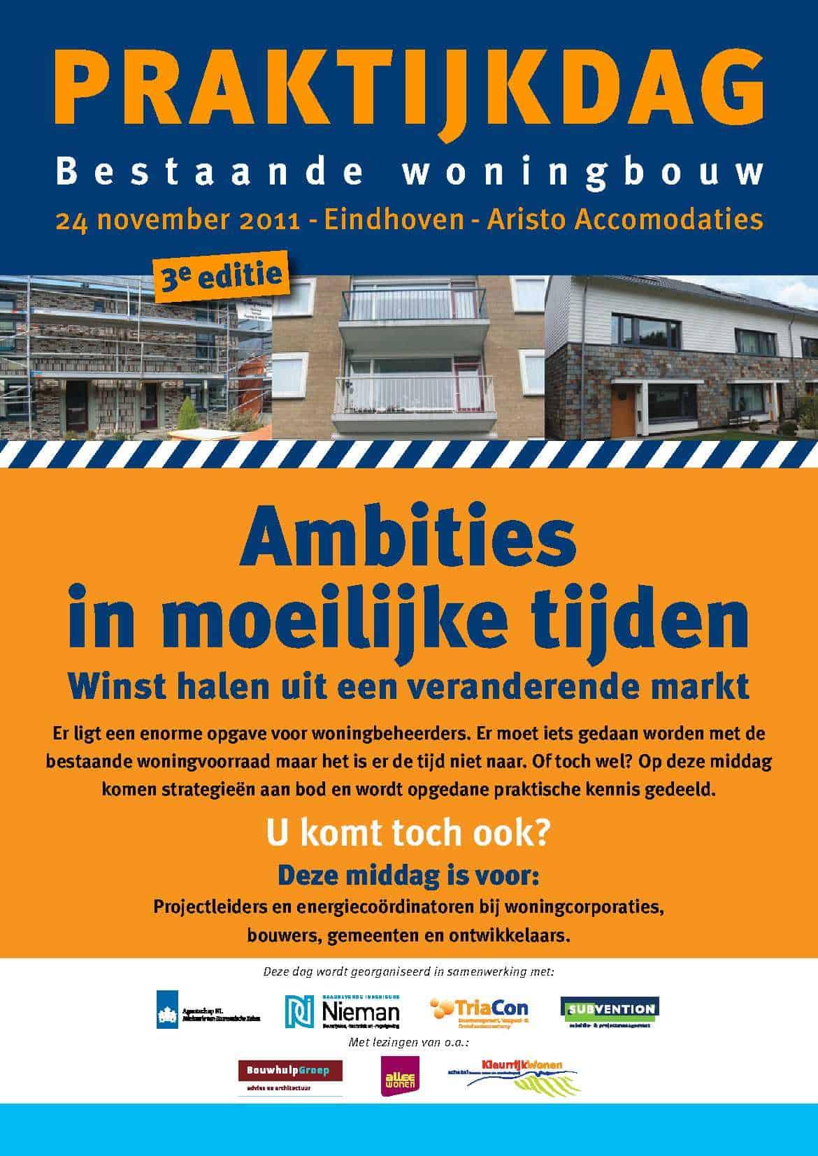 Folder Praktijkdag Bestaande Woningbouw 2011