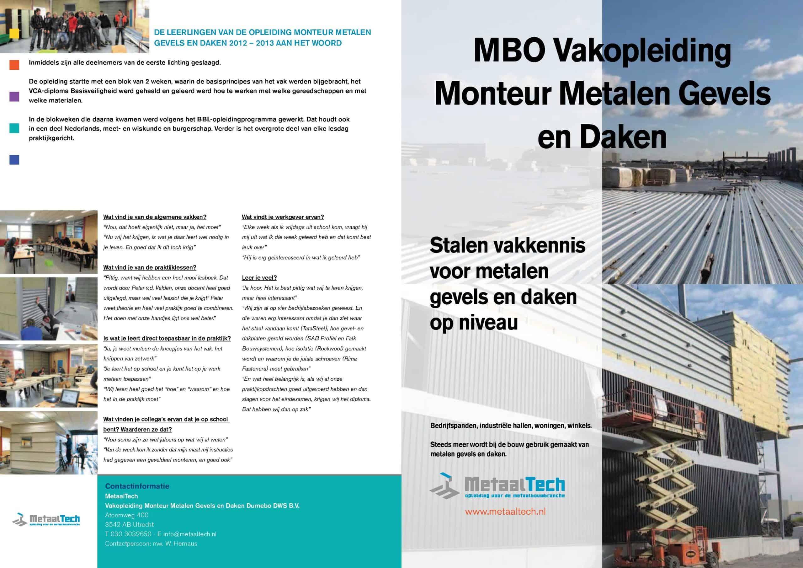 2014 DDWS folder vakopleiding monteur metalen gevels en daken 2014_1
