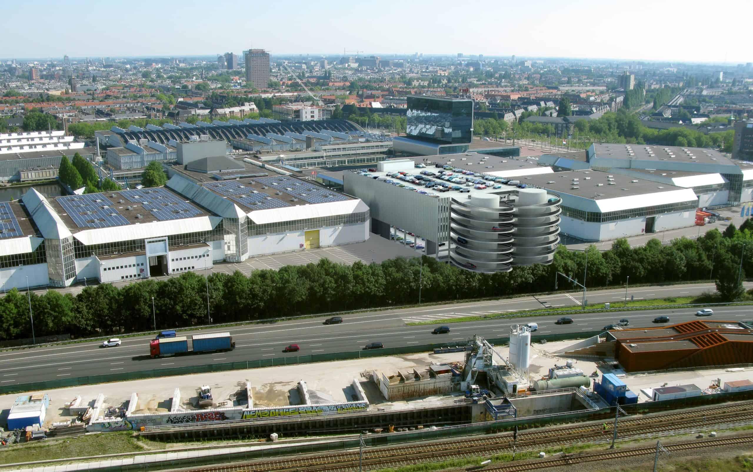 Multifunctioneel parkeergebouw Amsterdam RAI - © Aan de Stegge