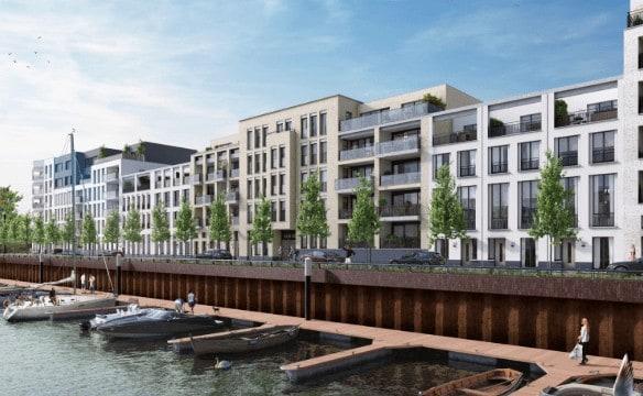 Impressie appartementen en woningen Noorderhaven kade Noord