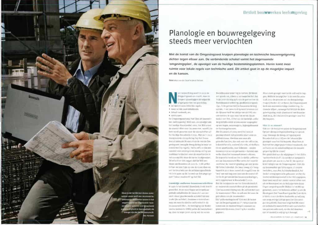 Artikel planologie en bouwregelgeving