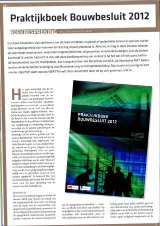 Bouwregels in de Praktijk_2011-11_Boekbespreking Praktijkboek Bouwbesluit 2012