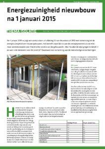 Energiezuinigheid nieuwbouw na 1-1-2015