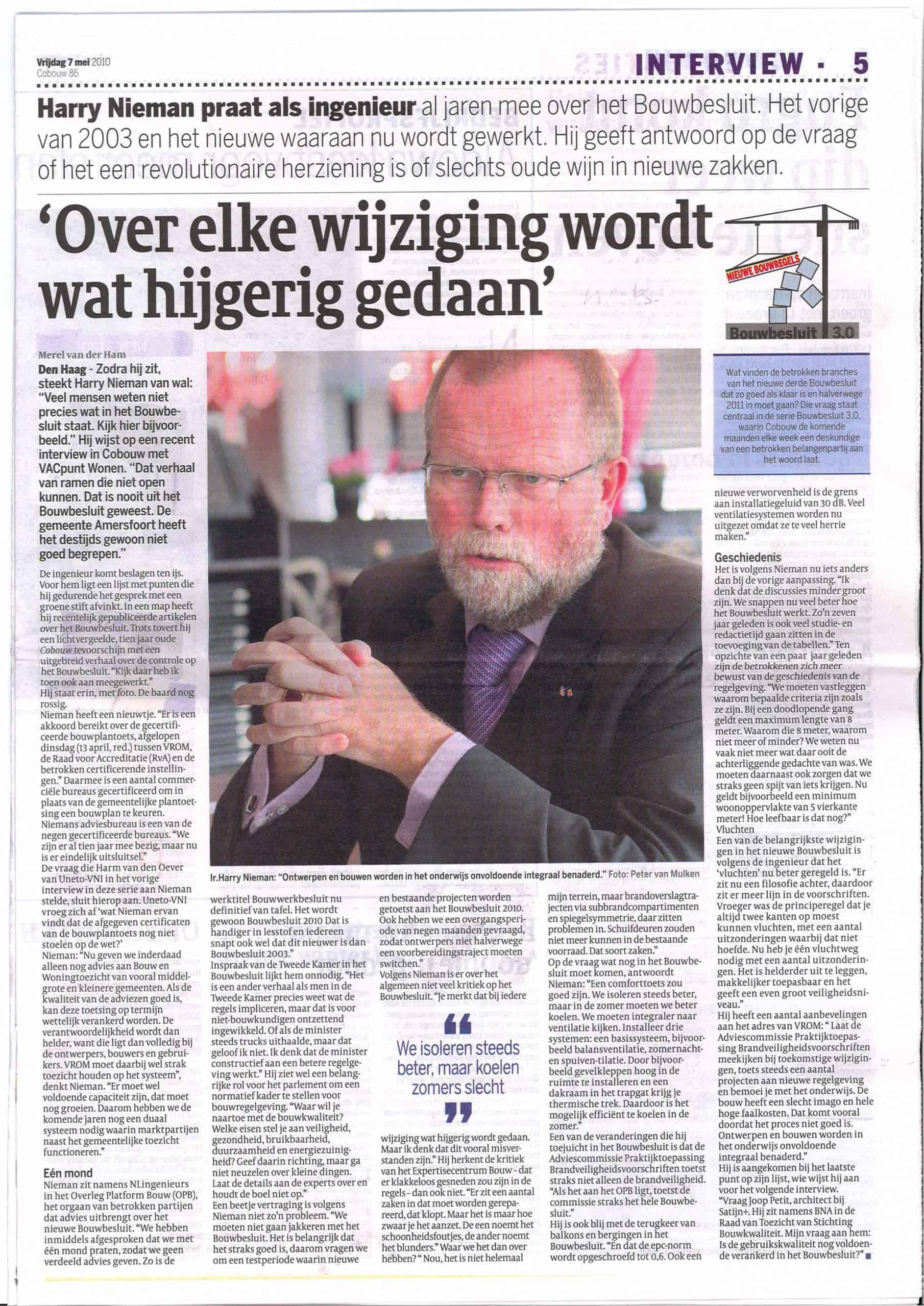 Cobouw-2010-05-07_Interview_HarryNieman_Bouwbesluit_2010-1-scaled