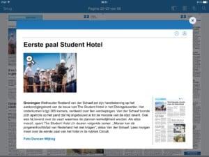 Eerste paal Student Hotel