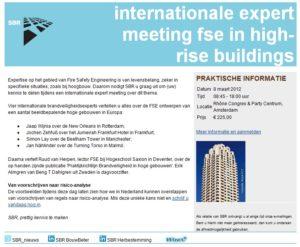 Expert meeting FSE in high-rise buildings