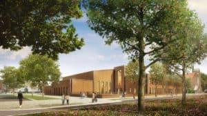 Impressie Schoolgebouw en dubbele sporthal De Sleutel Rotterdam