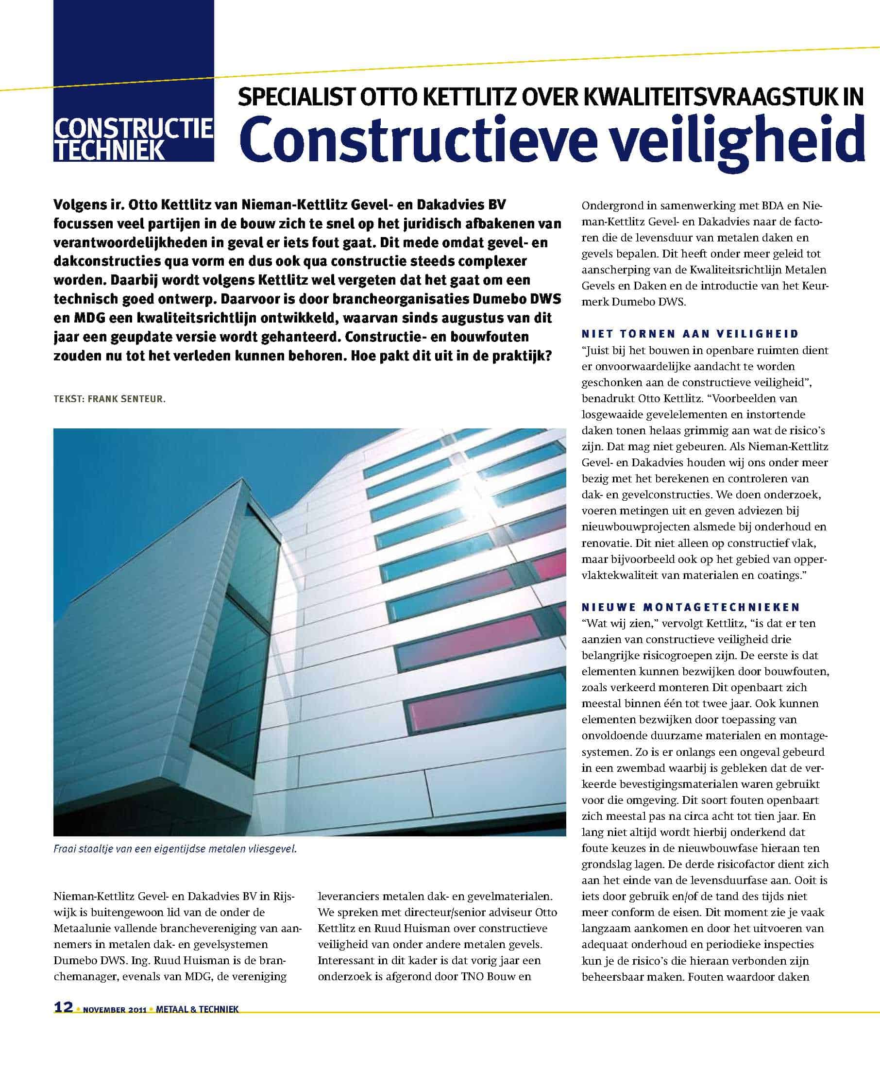 Metaal & Techniek_Constructieve Veiligheid