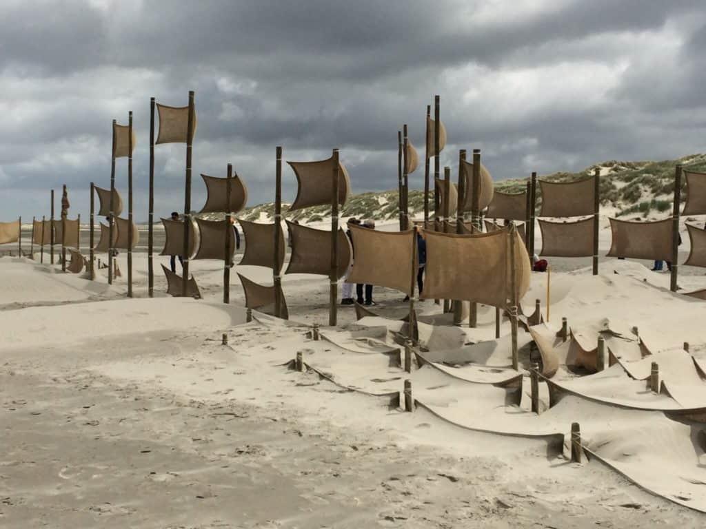 Oerol: installatie 'Gap the Border' van TU Delft MSc Landscape Architecture