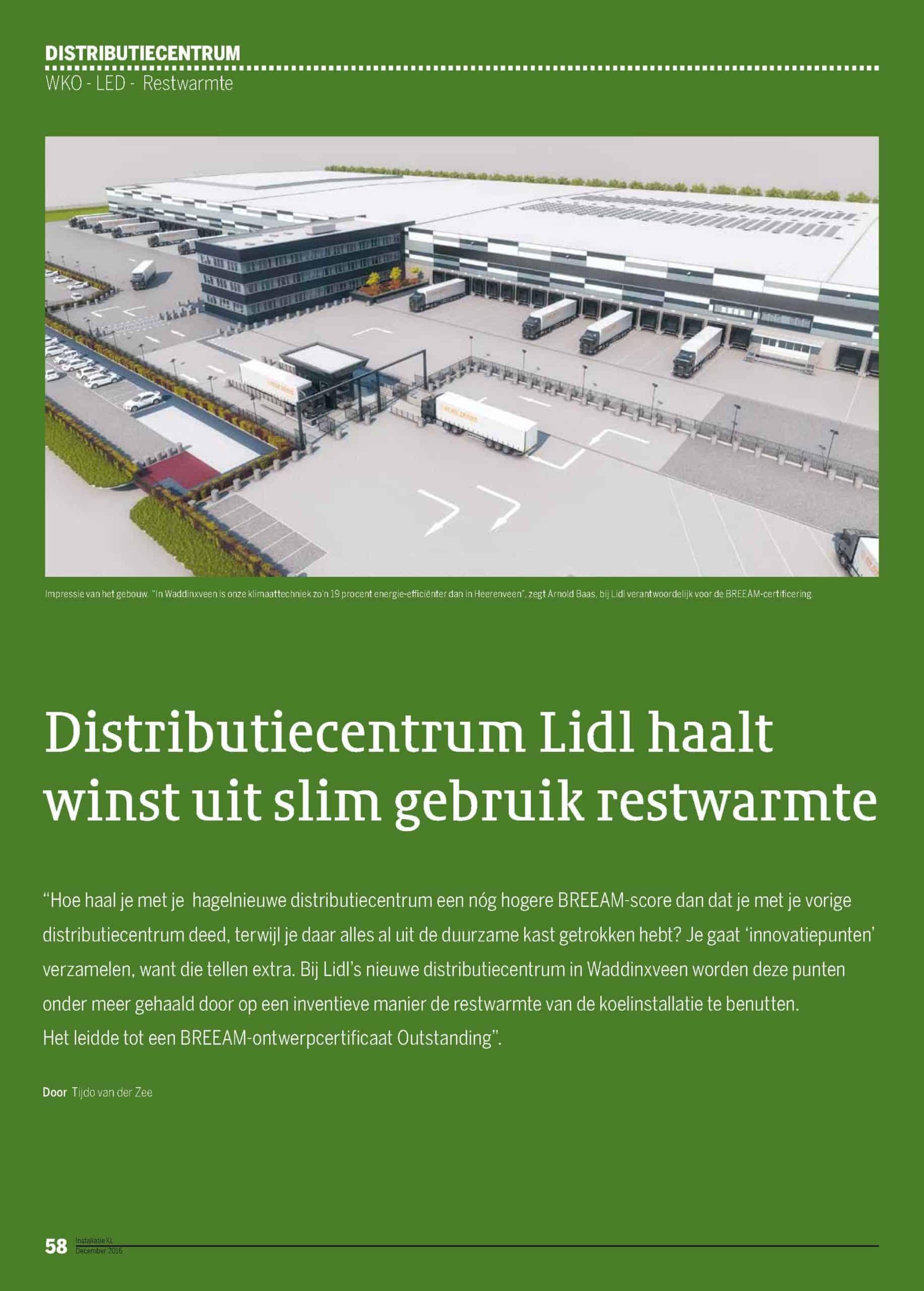Distributiecentrum Lidl haaltwinst uit slim gebruik restwarmte