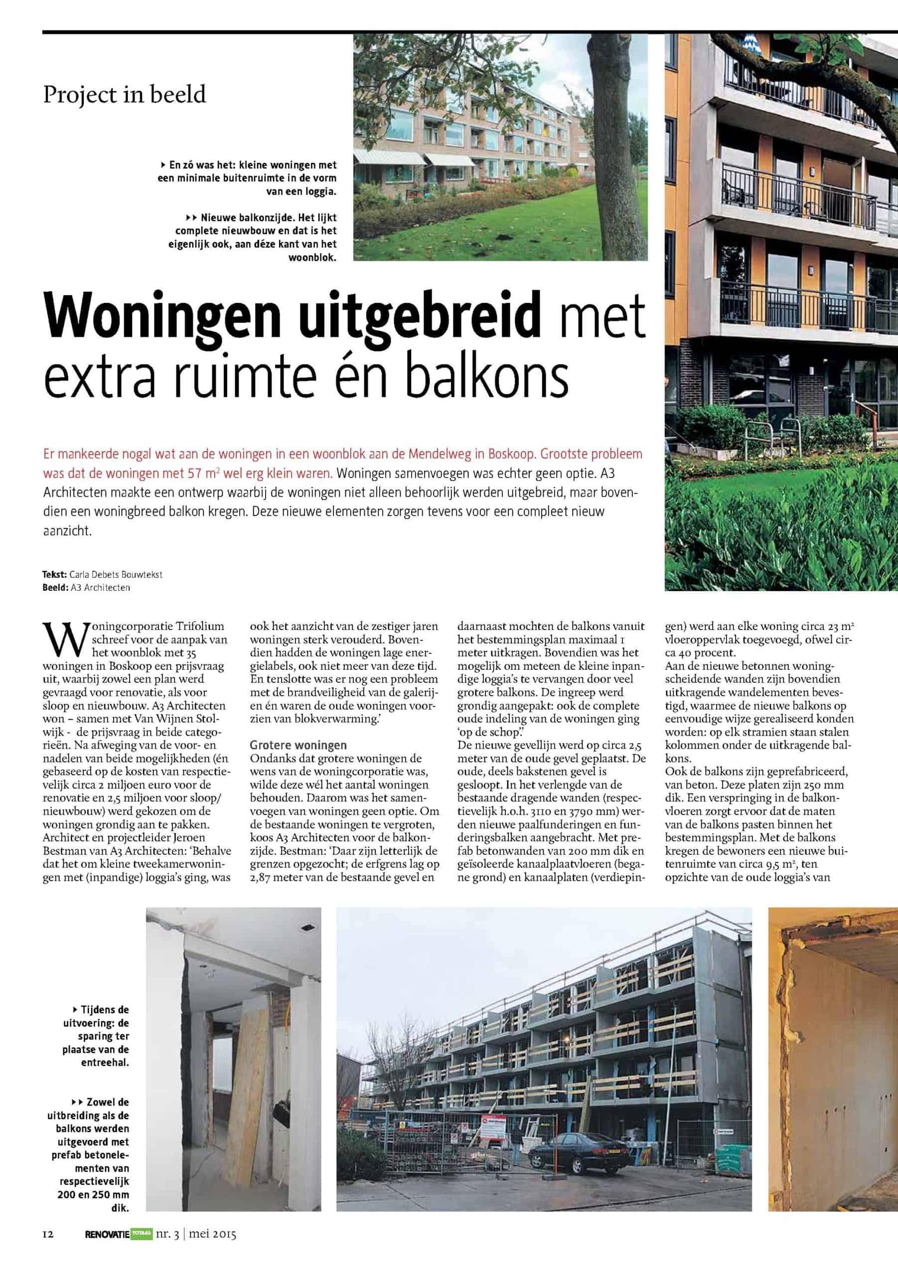 Woningen uitgebreid met extra ruimte én balkons