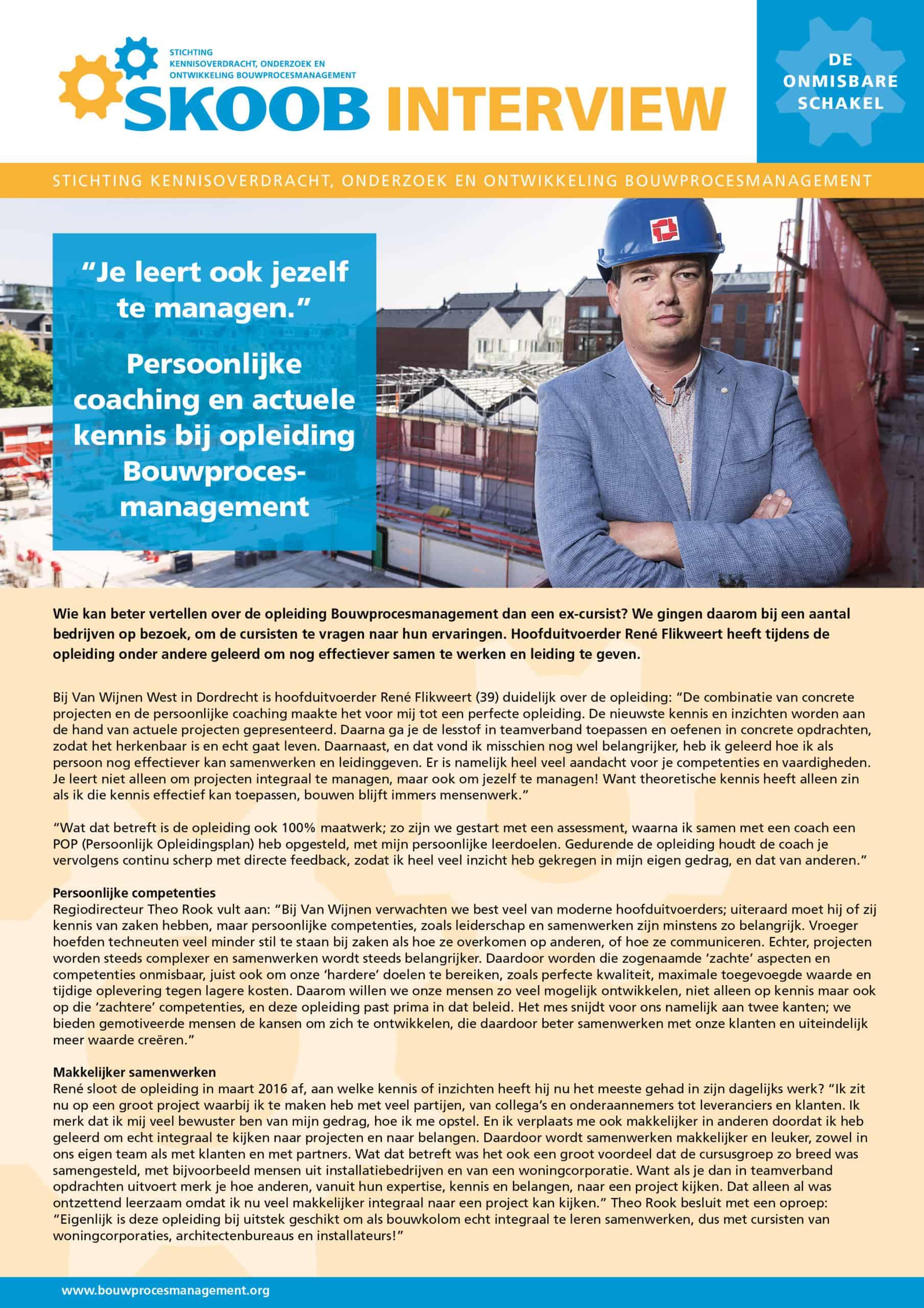 SKOOB_Interview_Rene Flikweert_Van Wijnen West