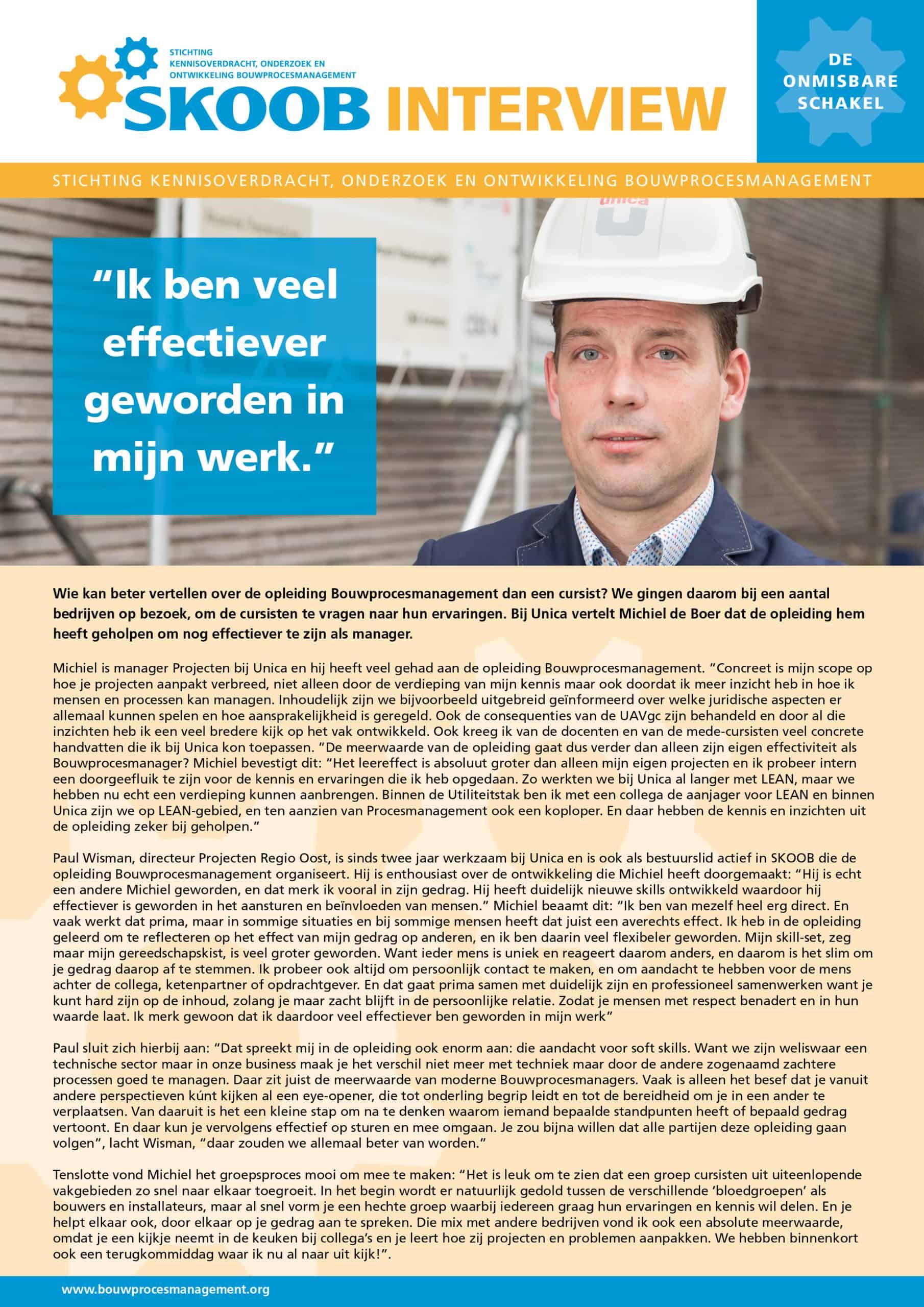 SKOOB_Interview_SKOOB_Interview_Michel de Boer_Unica.