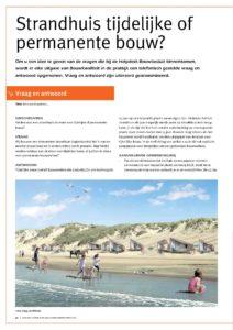 Helpdeskvraag Bouwbesluit voor de zomermaanden: Gelden voor een strandhuis de eisen voor tijdelijke of permanente bouw?