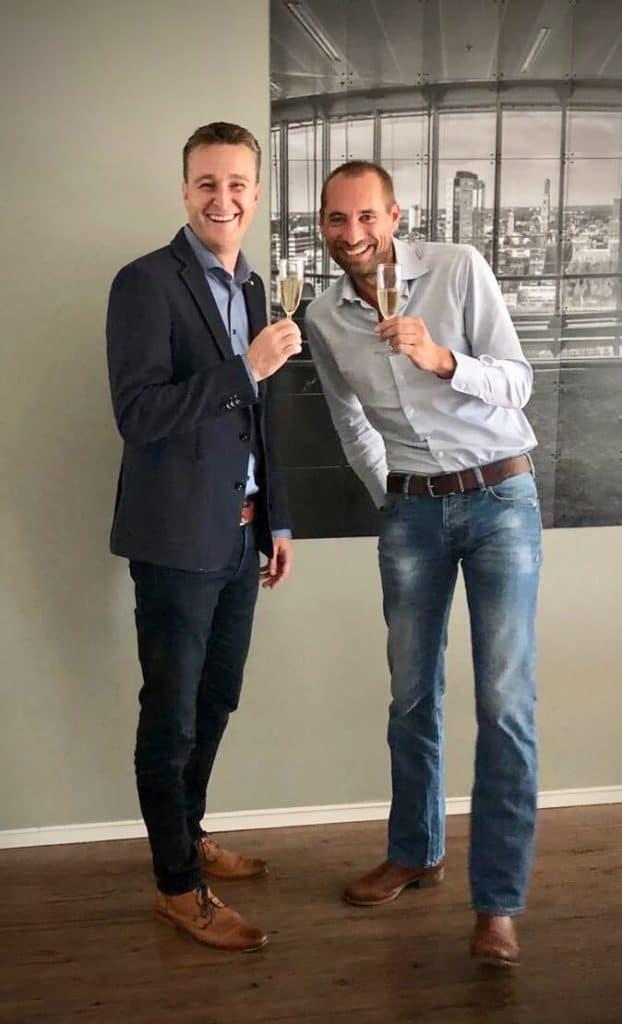Links: Sander van der Tol en rechts: Lennard Duijvestijn.