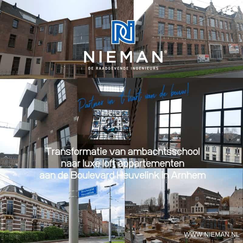 Transformatie van ambachtsschool naar luxe loft appartementen aan de Boulevard Heuvelink in Arnhem