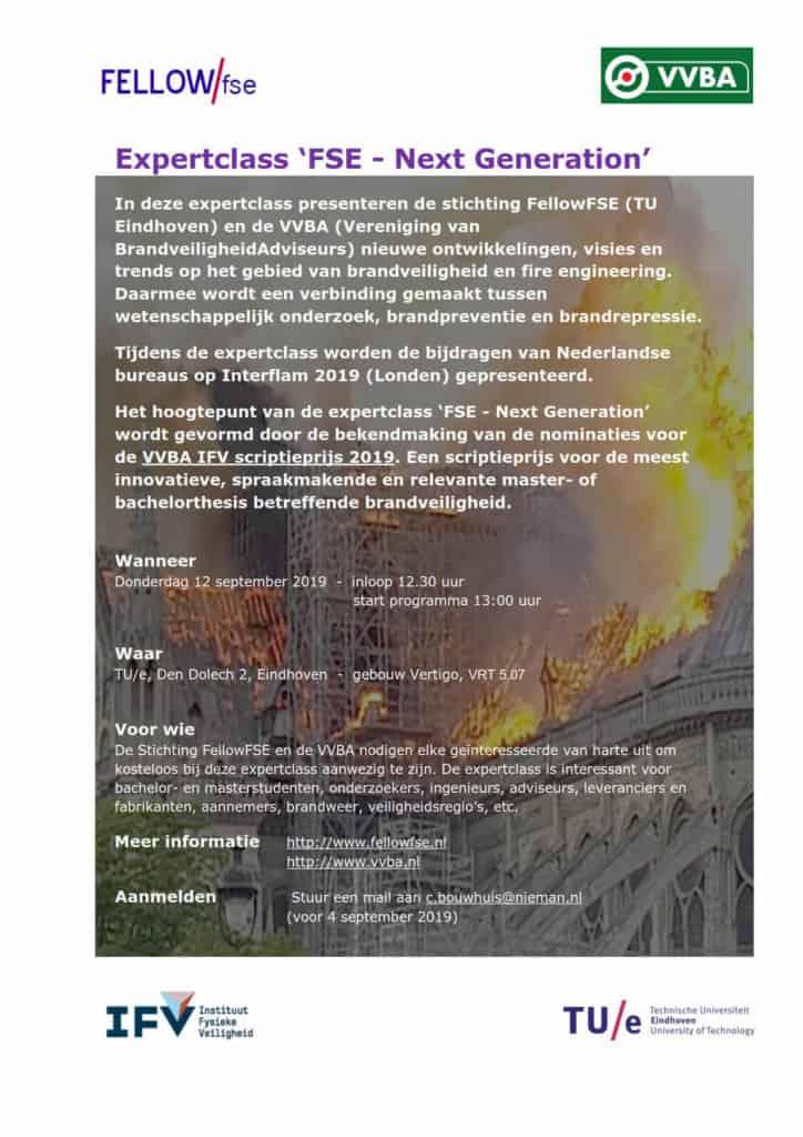 Uitnodiging Expertclass FSE-Next Generation 12-09-2019