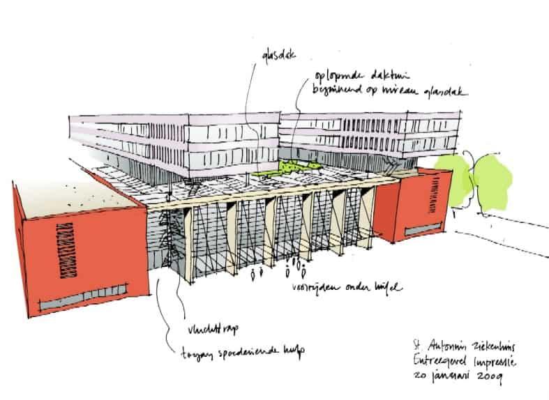 Utrecht-Leidsche-Rijn_Parkeergarge-St-Antoniusziekenhuis01_schets