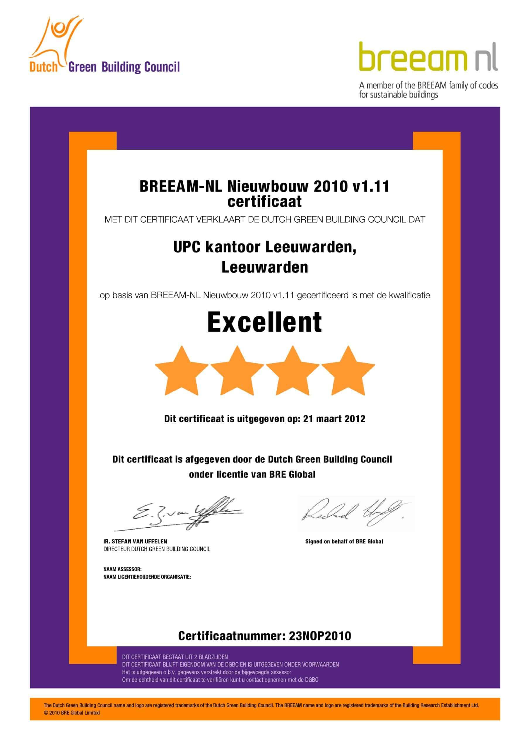 certificaat_23NOP2010_UPC-Leeuwarden_1-1-scaled