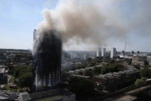 Brand in de Grenfell tower, Londen, 2017