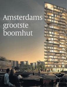 Artist impression woontoren 'Haut' Amsterdam (© Volkskrant, 2 November 2017)