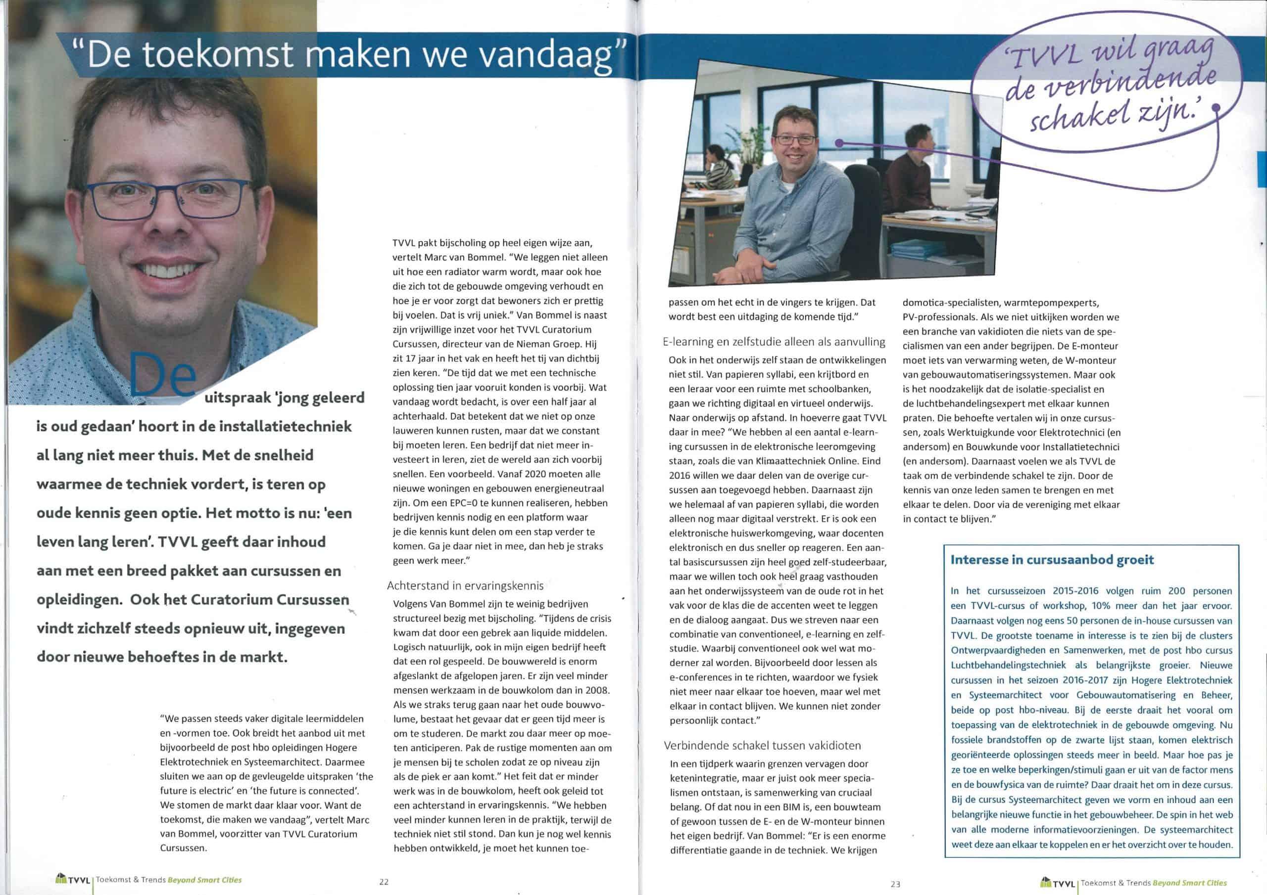 interview Marc van Bommel in TVVL magazine