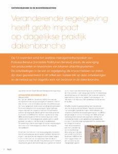 Veranderende regelgeving heeft grote impact op dagelijkse praktijk dakenbranche