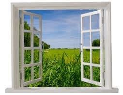natuurlijke ventilatie door open raam