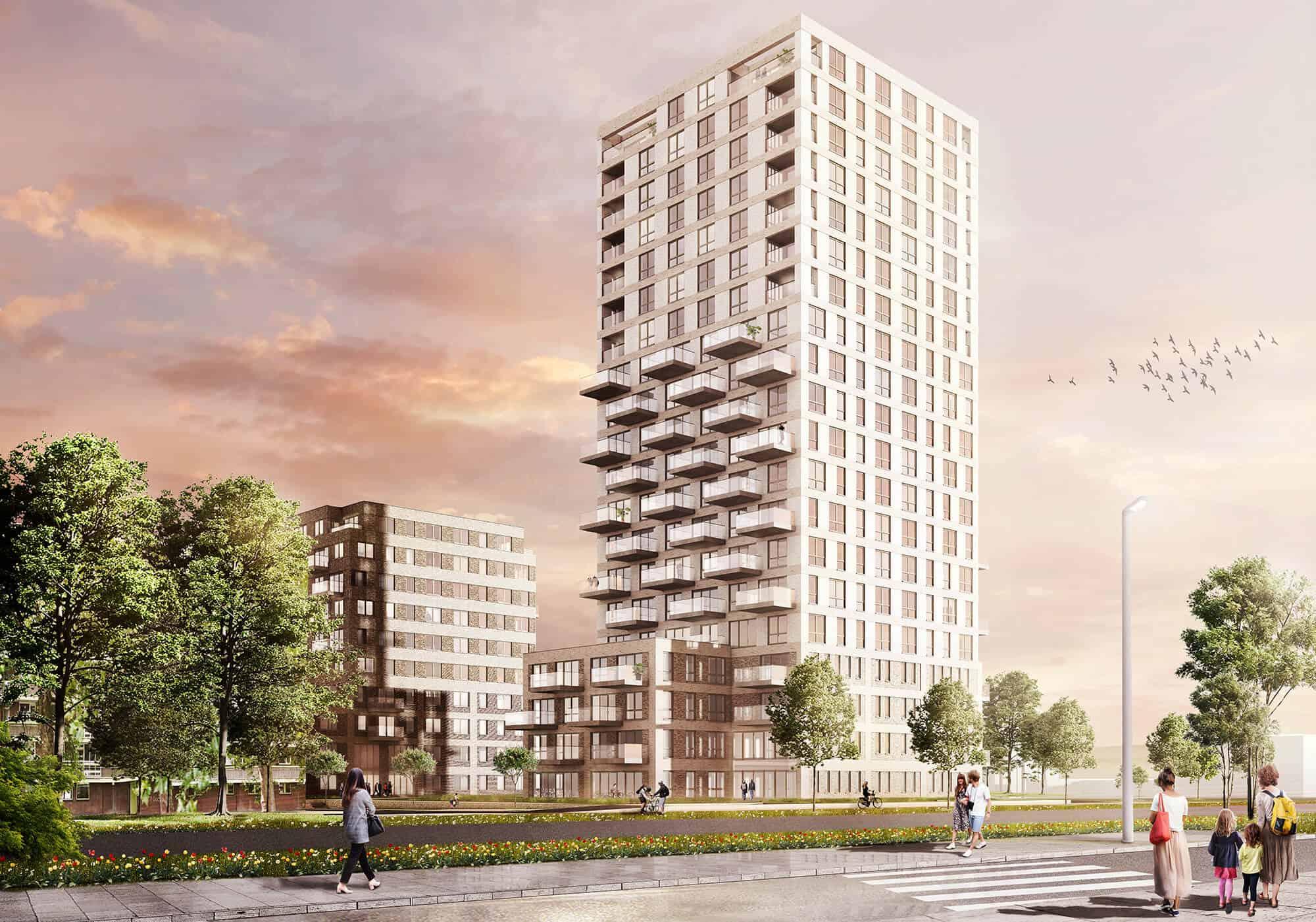 Woontorens Veld6 Hogekwartier AmersfoortMoke Architecten