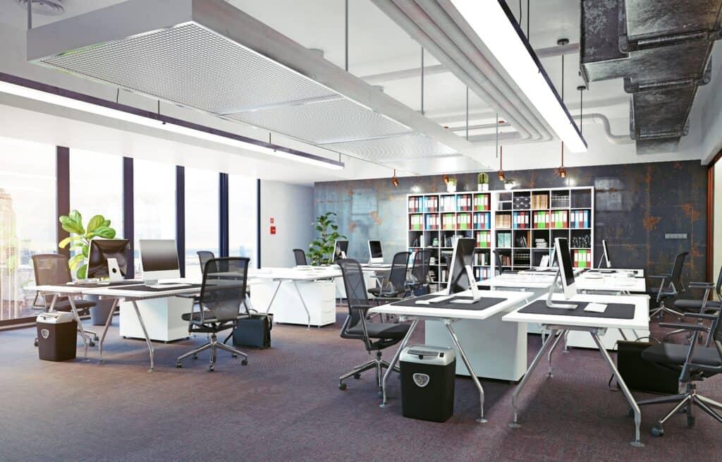 Ventilatie in kantoorrruimte
