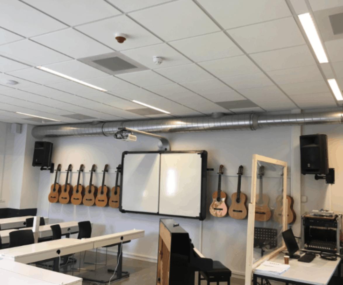 Voorbeeld ventilatie in onderwijs gebouw