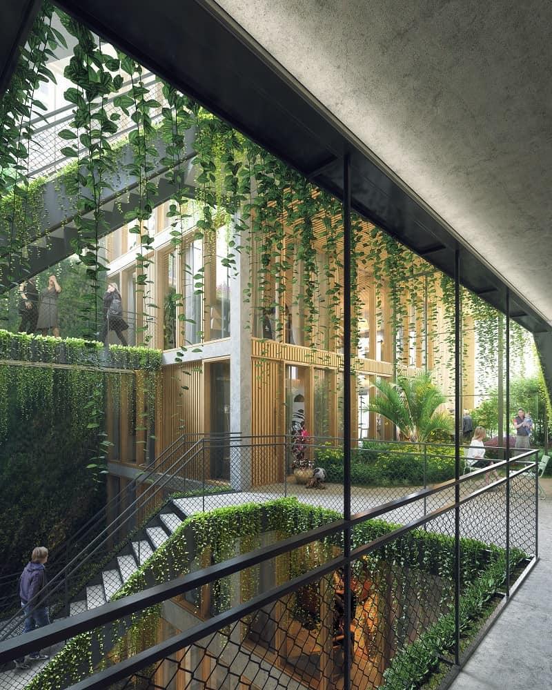Natuurinclusieve appartementgebouw Linck door jvantspijker & partners