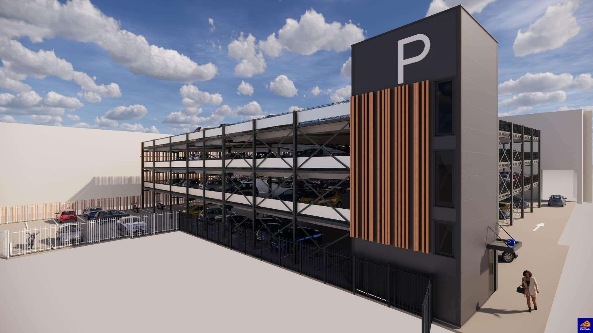 Impressie nieuwbouw parkeergarage Arsenaal Venlo_Continental Car Parks