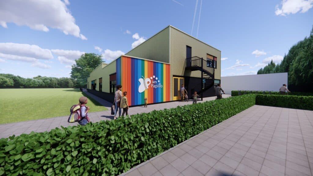 Nieuwbouw basisschool AZS Papilio in Burgum
