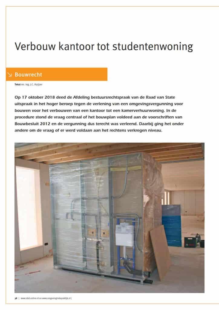 BriP_Bouwrecht_Verbouw kantoor tot studentenwoning