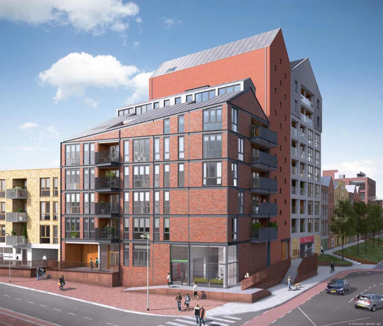 Appartementencomplex Ebbingekwartier door Van Wonen