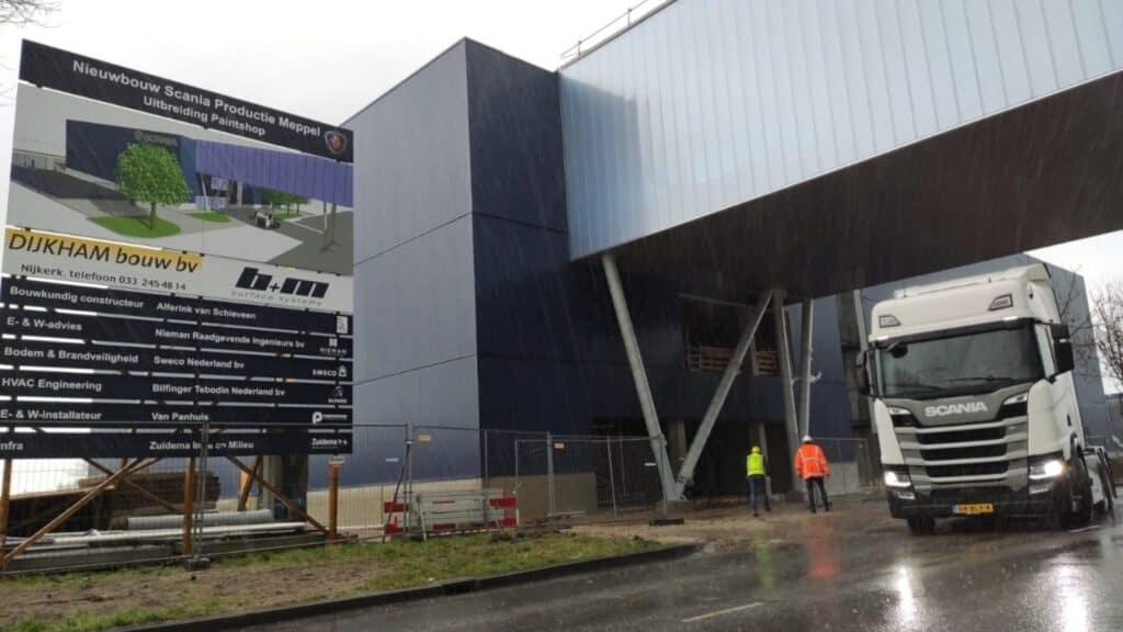 Nieuwbouw Scania paintshop Meppel